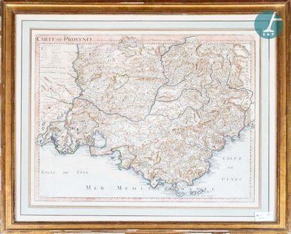 Carte de Provence Reproduction d'une carte colorisée de la Provence par Guillaume...