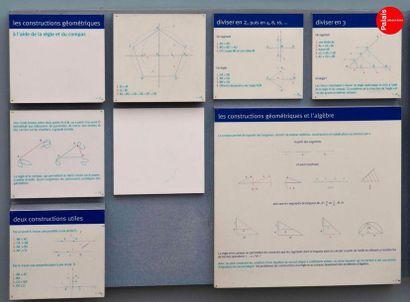 En provenance du Palais de la Découverte Explanatory panels presented in the PI room,...