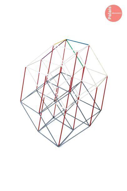 En provenance du Palais de la Découverte Educational set: the hypercube   Model...