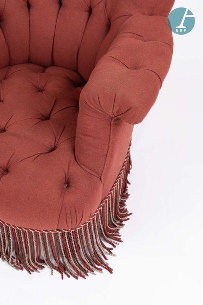 En provenance de l'ancien siège de la banque LAZARD Paire de fauteuils confortables...