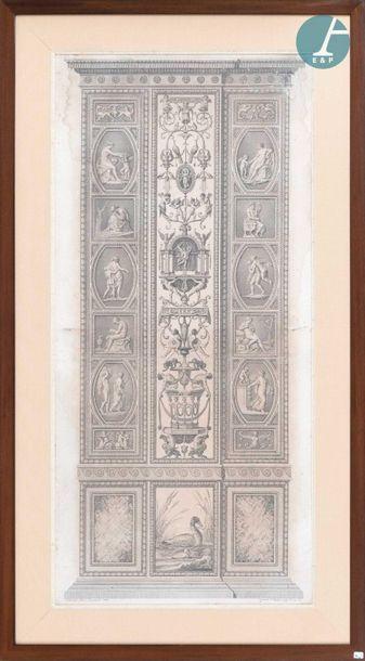 En provenance de l'ancien siège de la banque LAZARD D'après Giovanni VOLPATO (1733-1803),...