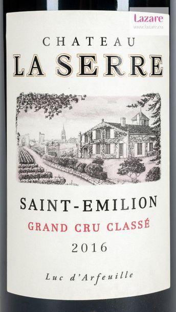 En provenance directe du château CHÂTEAU LA SERRE, Grand Cru Saint-Emilion. Grand...