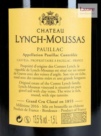 En provenance directe du château CHÂTEAU LYNCH MOUSSAS, Pauillac. Fifth Growth Classified...