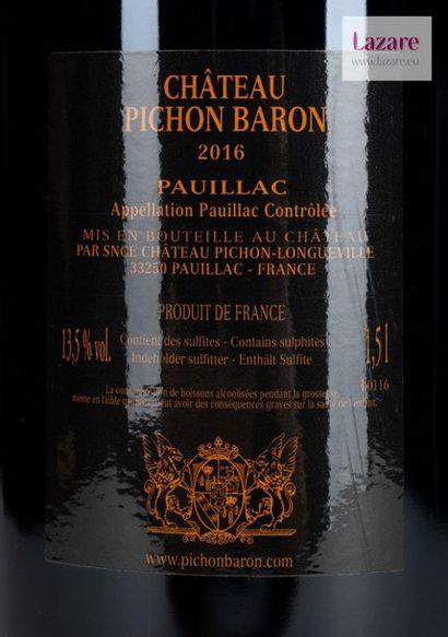 En provenance directe du château CHÂTEAU PICHON LONGUEVILLE BARON, Pauillac. SECOND...