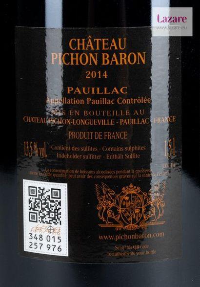 En provenance directe du château CHÂTEAU PICHON LONGUEVILLE BARON, Pauillac. DEUXIÈME...