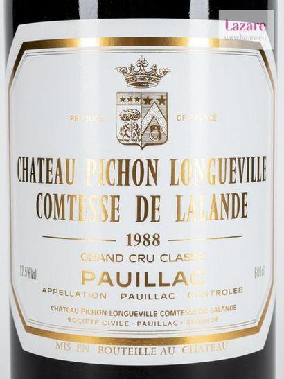 En provenance directe du château CHÂTEAU PICHON COMTESSE DE LALANDE, Pauillac. DEUXIÈME...