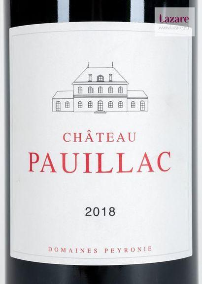 CHÂTEAU PAUILLAC, Pauillac. Original wooden case of a Magnum dated 2018.