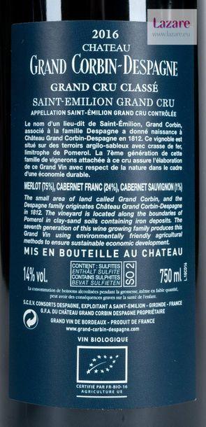 En provenance directe du château CHÂTEAU GRAND CORBIN DESPAGNE, Grand Cru Saint-Emilion....