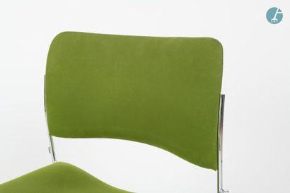 En provenance du siège d'un groupe industriel international HOWE, Lot de 4 chaises...