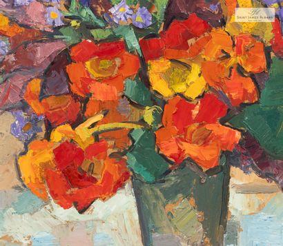 """En provenance de l'Hôtel Saint James Albany Raymond ROCHETTE (1906-1993) """"Bouquet..."""