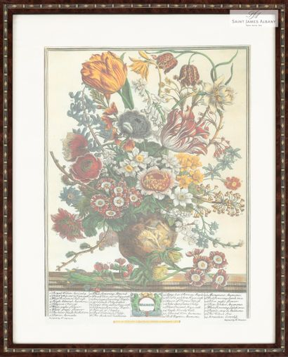 """En provenance de l'Hôtel Saint James Albany """"Les mois de l'année, bouquets de fleurs"""",..."""