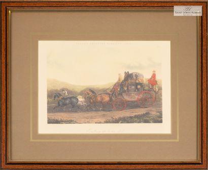 En provenance de l'Hôtel Saint James Albany Lot de deux reproductions Fore's Coaching...