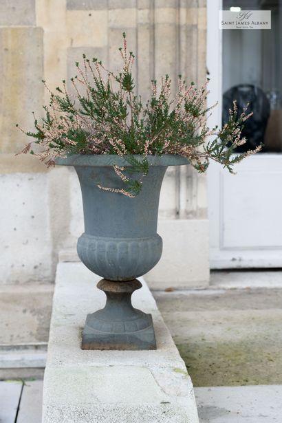 Paire de vases Médicis en bronze. Hauteur...