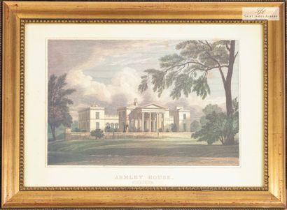 """En provenance de l'Hôtel Saint James Albany Lot de douze reproductions """"Châteaux..."""