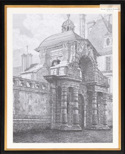En provenance de l'Hôtel Saint James Albany Lot de huit reproductions de gravures...
