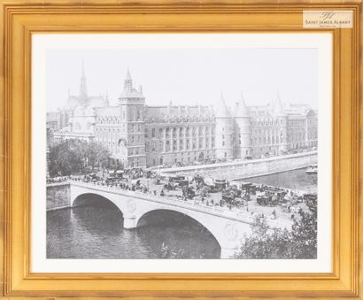 En provenance de l'Hôtel Saint James Albany Lot de sept reproductions de gravures...