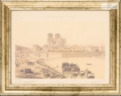 "En provenance de l'Hôtel Saint James Albany Lot de six pièces encadrées ""Vues de..."