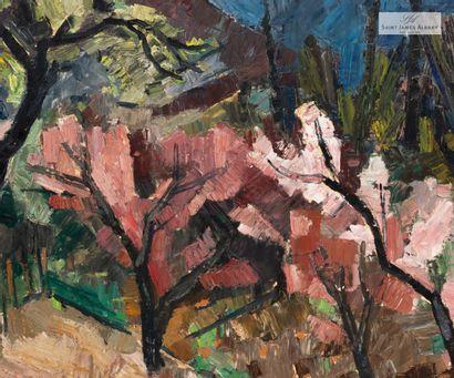 """En provenance de l'Hôtel Saint James Albany Raymond ROCHETTE (1906-1993) """" Paysage..."""