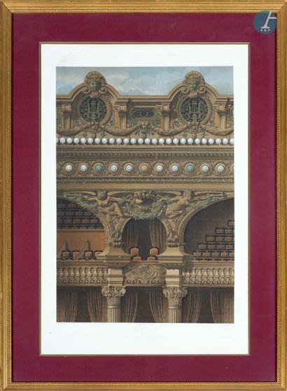 En provenance d'un grand hôtel historique, proche de l'Opéra de Paris Pièce encadrée,...