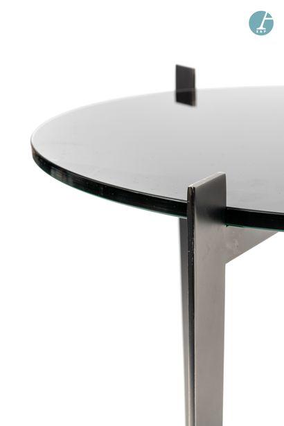 En provenance de l'ancien Hôtel W Paris-Opéra Lot de 4 petites tables d'appoint,...