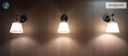 ARTEMIDE, 3 luminaires, support métallique,...
