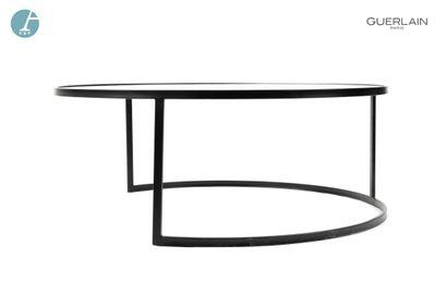 Table basse circulaire piètement en aluminium...