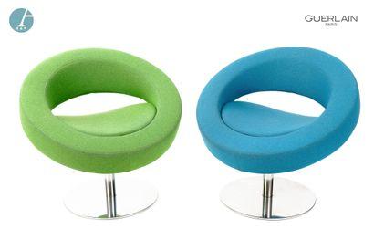 SOFTLINE made in Denmark, 2 fauteuils bas...