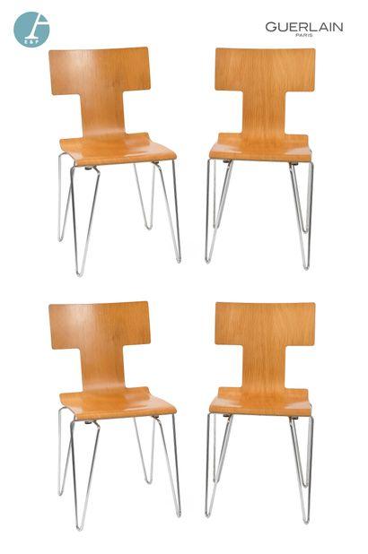 YAMAKADO Paris, lot de quatre chaises en...
