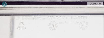 KARTELL, Design Philippe STARCK (né en 1949), deux fauteuils en plexiglas transparent,...