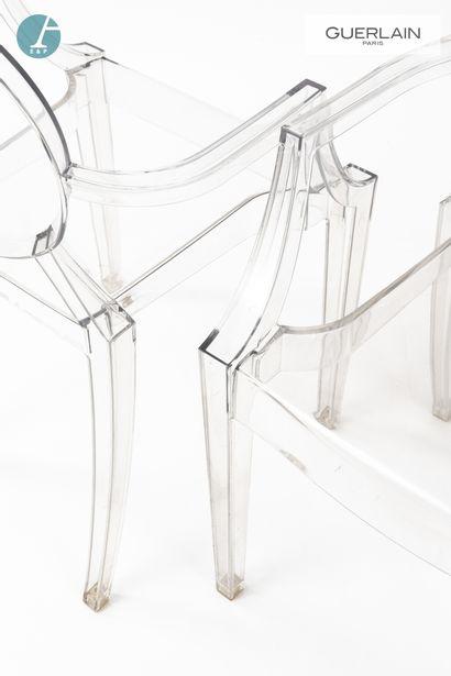 KARTELL, Design Philippe STARCK (né en 1949), deux fauteuils en plexiglas, modèle...