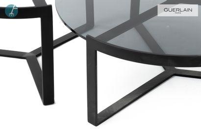 Deux tables basses circulaires, piètement...