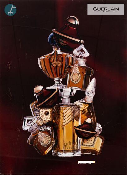 Parfums Guerlain, impression sur plexiglas....