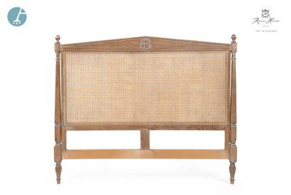 Lot de 5 têtes de lit en bois naturel mouluré...