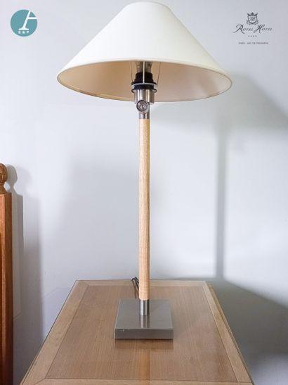 Paire de lampes avec liseuse intégrée piètement...