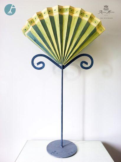 Élément de décoration en tôle laquée vert...