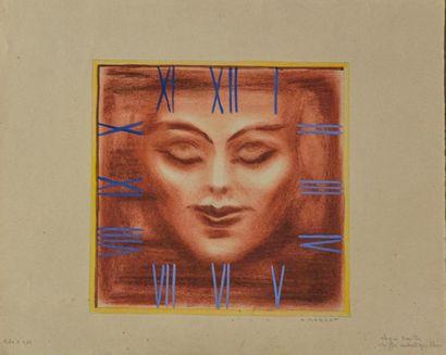 André MARGAT (1903-1999) Projet de cadran...