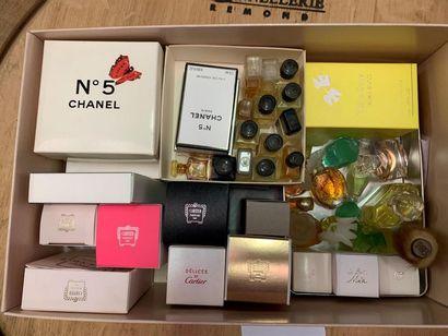 FLACONS MINITIATURES Chanel, Cartier et Nina Ricci...