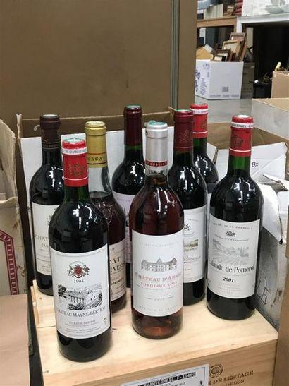 VIN, lot comprenant un ensemble de 76 bouteilles...