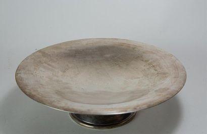 CHRISTOFLE ALFENIDE: Coupe à fruits en métal argenté Art Déco. Poinçon Alfenide...