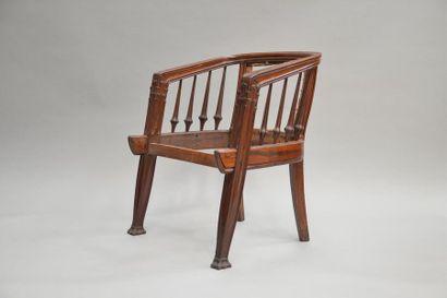 "Louis MAJORELLE (1859-1926) OFFICE model called ""aux pommes de pin"" in rosewood..."