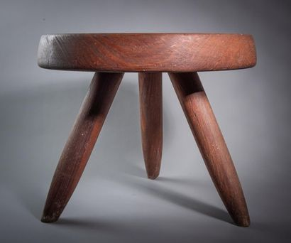 CHARLOTTE PERRIAND (1903-1999) Tabouret bas...