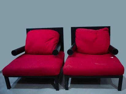 ANTONIO CITTERIO, PAIRE de fauteuils modèle...
