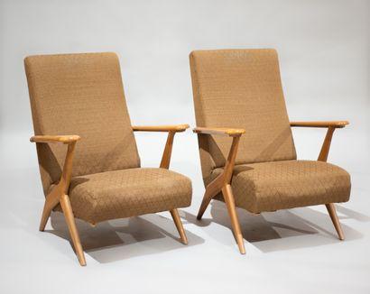 Antonio GORGONE (XXe) PAIRE de fauteuils...