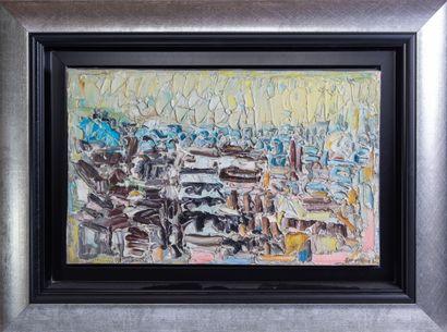 """André COTTAVOZ (1922-2012) """"Florence"""" Huile sur toile signée en bas à droite. Contretitrée..."""