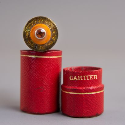 CARTIER Briquet cylindrique miniature à essence