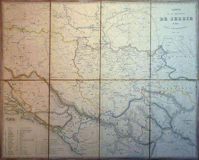 Carte de la principauté de Serbie et des...