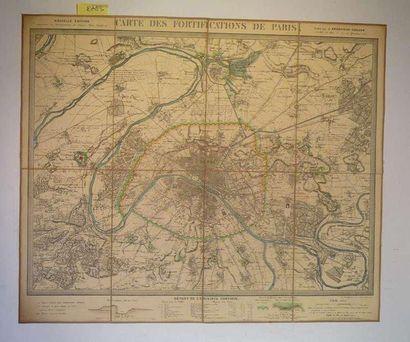 Carte des fortifications de Paris. Paris,...