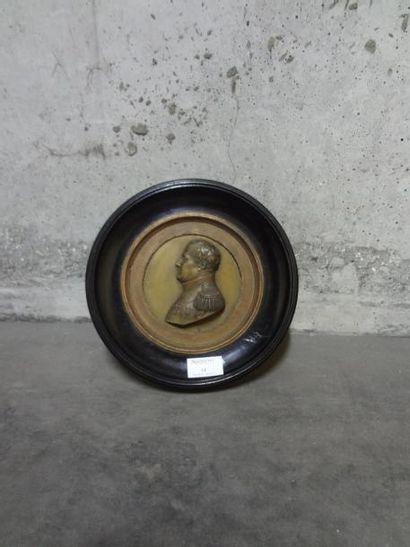 Medaillon représentant le profil de Napoléon...