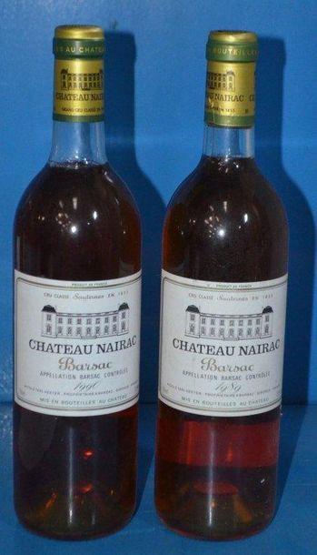 Lot de 2 Btles: 1 Château NAIRAC - Barsac...