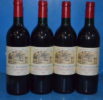 Lot de 4 Btles: 2 Château MAGDELAINE - GC...